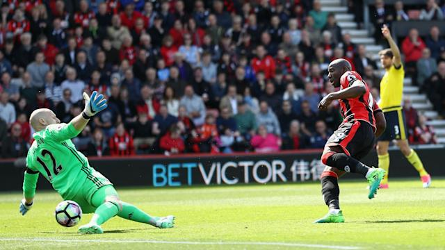 Bournemouth took a major step toward safety as they sent 10-man Middlesbrough further towards relegation with a 4-0 win at Vitality Stadium.