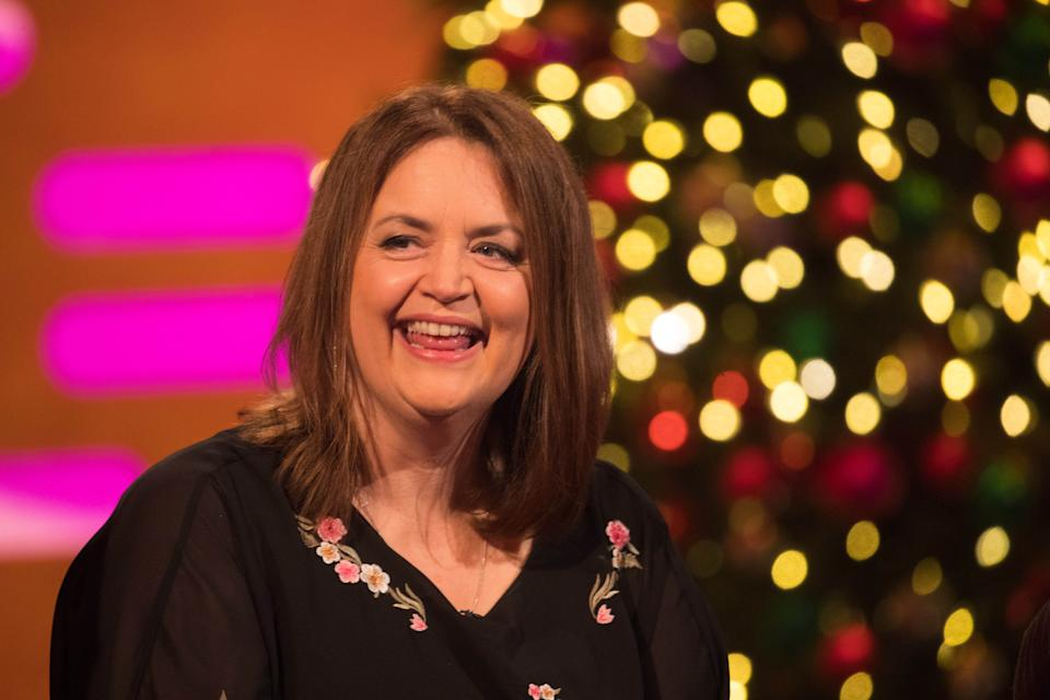 Ruth Jones during the filming for the Graham Norton Show at BBC Studioworks 6 Television Centre, Wood Lane, London, to be aired on BBC One on Friday evening. Picture date: Thursday December 19, 2019. Photo credit should read: PA Images on behalf of So TV (Photo by David Parry/PA Images via Getty Images)