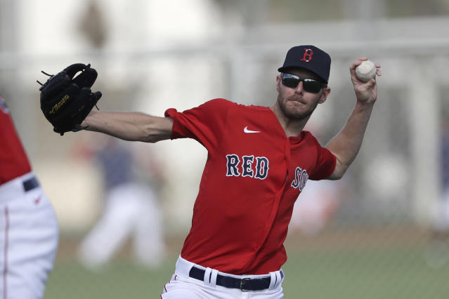 "<a class=""link rapid-noclick-resp"" href=""/mlb/players/8780/"" data-ylk=""slk:Chris Sale"">Chris Sale</a> is dealing with elbow soreness. (AP Photo/John Bazemore)"