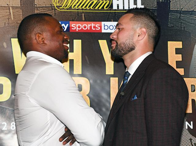 Boxing - Dillian Whyte Press Conference - Dorchester Hotel, London, Britain - June 7, 2018 Dillian Whyte and Joseph Parker pose after the press conference Action Images via Reuters/Alan Walter