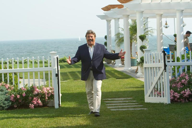 """This film image released by Columbia Pictures shows Adam Sandler, Tony Orlando portrays Steve Spirou in a scene from the comedy """"That's My Boy."""" Sixty-eight-year-old Orlando said in a recent interview that the idea to cast him in the film which opens Friday, came about after running into Adam Sandler at a birthday party for a mutual friend. Two days later Sandler called him up asking if he'd want to appear in his next film. (AP Photo/Columbia Pictures - Sony, Tracy Bennett)"""