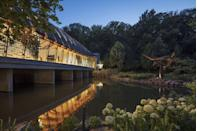 """<p><a href=""""https://crystalbridges.org/"""" rel=""""nofollow noopener"""" target=""""_blank"""" data-ylk=""""slk:Crystal Bridges Museum of American Art"""" class=""""link rapid-noclick-resp"""">Crystal Bridges Museum of American Art </a></p><p>This outstanding space in Bentonville not only houses some pretty amazing art, but is known for its unique buildings and walking trails. They use the space to craft some special exhibitions like the North Forest Lights, which is an immersive experience bringing amazing lights to the forest There's a large American art collection, architecture, including a house created by Frank Lloyd Wright. The entire space is free to visit, as it is sponsored by Walmart (which has its roots in this town, and there is even a <a href=""""https://www.walmartmuseum.com/content/walmartmuseum/en_us.html"""" rel=""""nofollow noopener"""" target=""""_blank"""" data-ylk=""""slk:museum dedicated to the chain store nearby"""" class=""""link rapid-noclick-resp"""">museum dedicated to the chain store nearby</a>). </p>"""