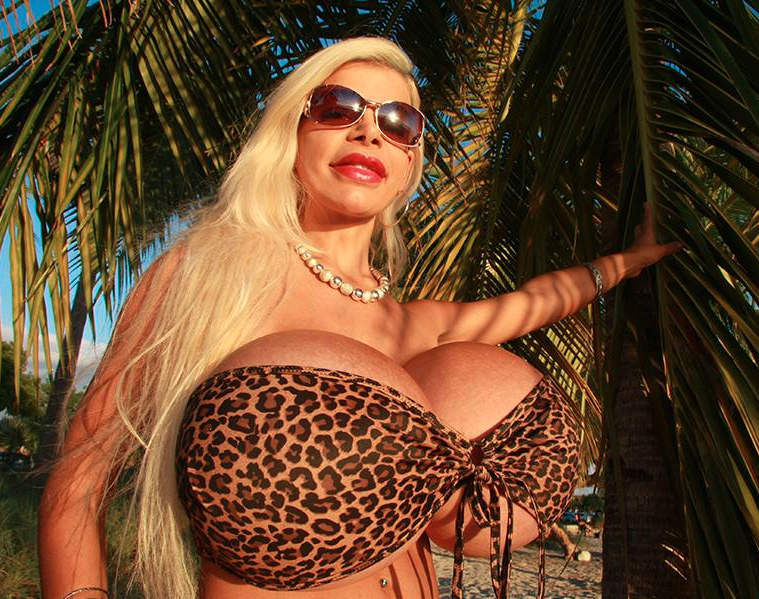 She was born white and claimed to have the biggest boobs in Europe after getting 32S implants. Photo: Facebook