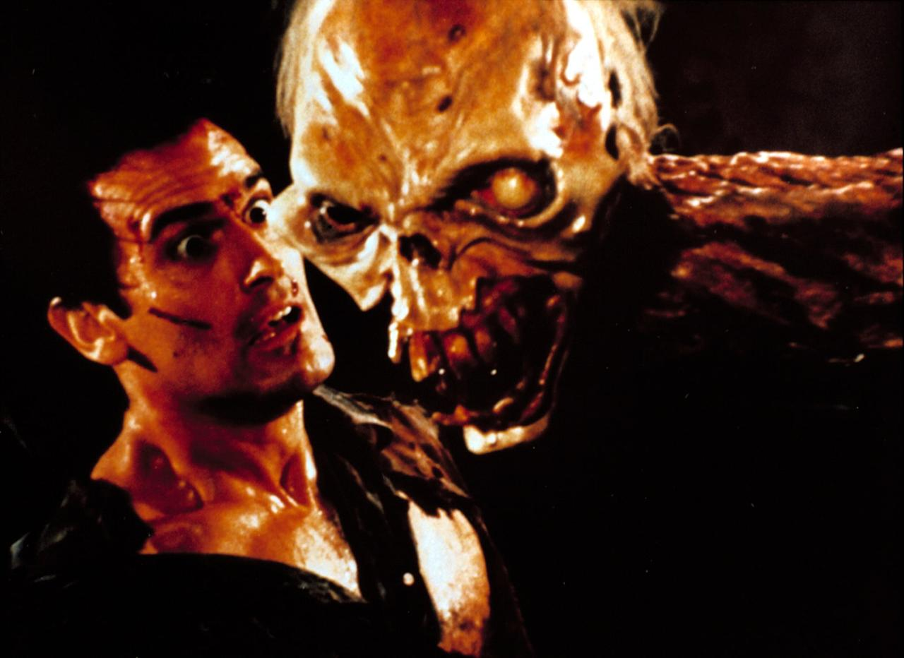 """<p>Straight out of school, Sam Raimi directed <strong>The Evil Dead</strong>, a punchy and gruesome horror comedy masterpiece in its own right. He returned in 1987 with <strong>Evil Dead II</strong>, which some consider even funnier and gorier than the original. Here, we have yet another cabin in the woods situation, now with a headless body wielding a chainsaw. </p> <p><product href=""""https://www.hulu.com/movie/evil-dead-ii-acd708c8-5a00-4e0f-aeb4-fd81d42623cb"""" target=""""_blank"""" class=""""editor-rtfLink ga-track"""" data-ga-category=""""internal click"""" data-ga-label=""""https://www.hulu.com/movie/evil-dead-ii-acd708c8-5a00-4e0f-aeb4-fd81d42623cb"""" data-ga-action=""""body text link"""">Watch<strong> Evil Dead II</strong> on Hulu. </product></p>"""