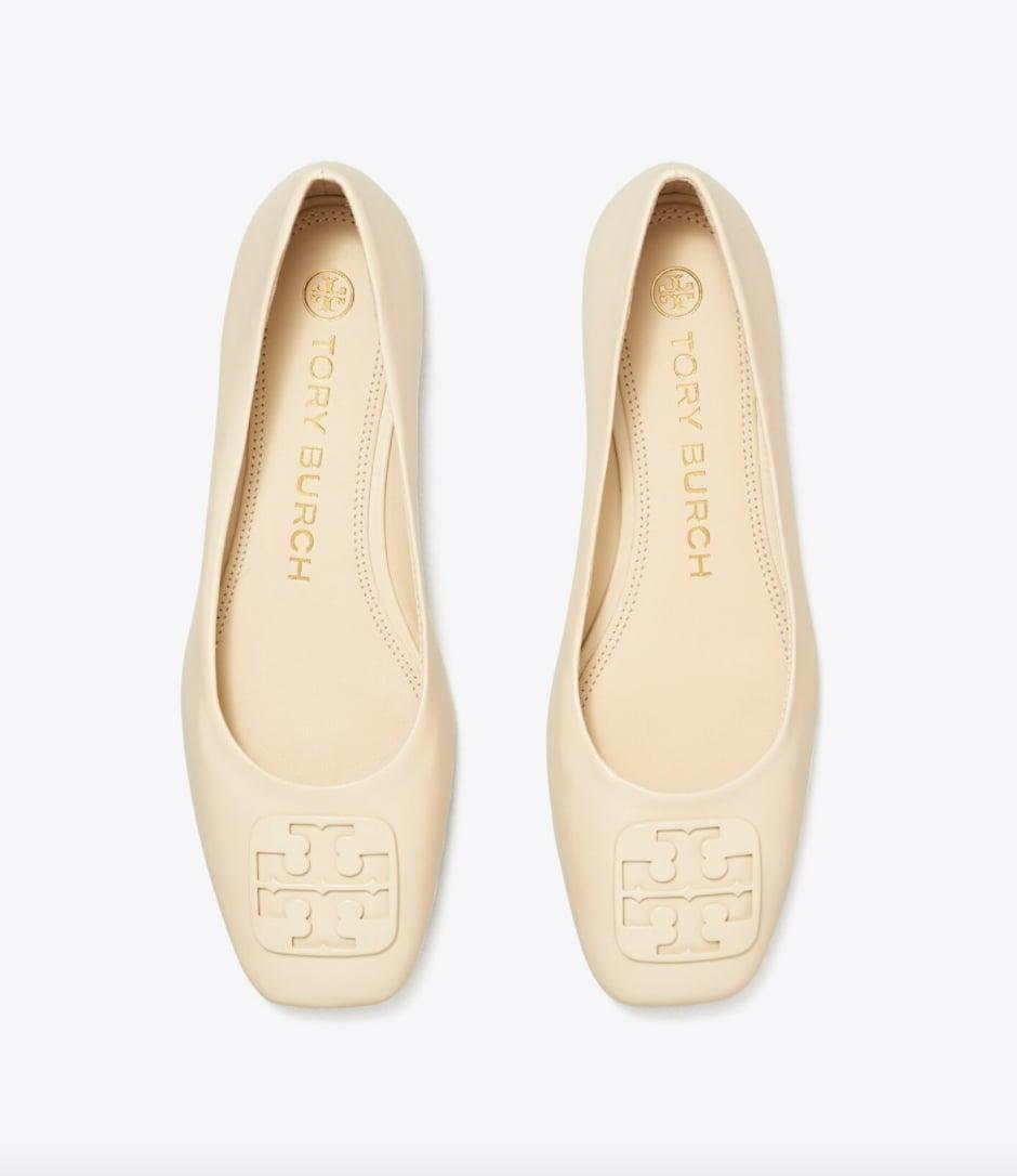 <p>We love the square toe and polished looks of these <span>Tory Burch Georgia Ballet Flats</span> ($72, originally $120).</p>