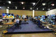The control room for the Democratic National Convention in Milwaukee -- which contains some of the few people actually at the event