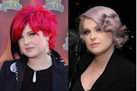 """<p>Kelly will forever be known for her beauty risks, specifically her always-changing hair color. And while we know her """"makeunder"""" look features lavender hair, you've got to admit that it's still significantly more natural-looking and simple.</p>"""