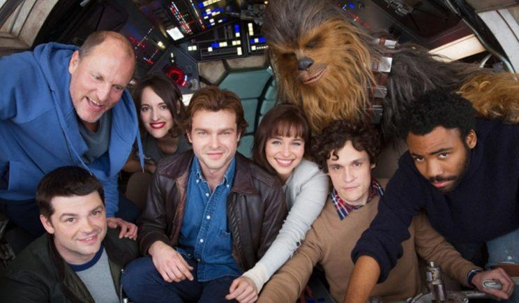 Young Han Solo and crew aboard the Millennium Falcon - Credit: Lucasfilm