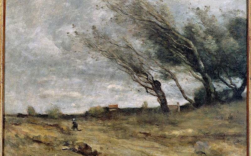 """The Camille Corot painting """"The Gust of Wind"""" - Getty"""