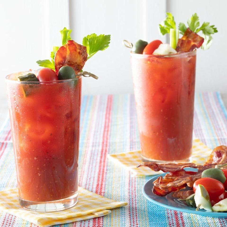 """<p>If you're hosting a 4th of July brunch, there's no better drink than this classic Bloody Mary. Bring a bit of grilling flavor to your cocktail by garnishing it with a skewer of grilled shrimp. </p><p><a href=""""https://www.thepioneerwoman.com/food-cooking/recipes/a36202090/classic-bloody-mary/"""" rel=""""nofollow noopener"""" target=""""_blank"""" data-ylk=""""slk:Get the recipe."""" class=""""link rapid-noclick-resp""""><strong>Get the recipe. </strong></a></p><p><a class=""""link rapid-noclick-resp"""" href=""""https://go.redirectingat.com?id=74968X1596630&url=https%3A%2F%2Fwww.walmart.com%2Fsearch%2F%3Fquery%3Dskewers&sref=https%3A%2F%2Fwww.thepioneerwoman.com%2Ffood-cooking%2Fmeals-menus%2Fg36432840%2Ffourth-of-july-drinks%2F"""" rel=""""nofollow noopener"""" target=""""_blank"""" data-ylk=""""slk:SHOP SKEWERS"""">SHOP SKEWERS</a></p>"""