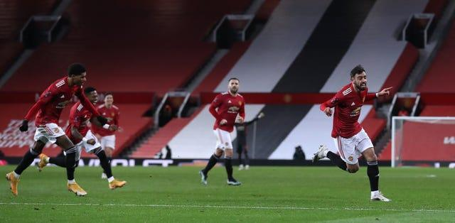 Bruno Fernandes fired Manchester United to victory against Liverpool in the FA Cup last weekend
