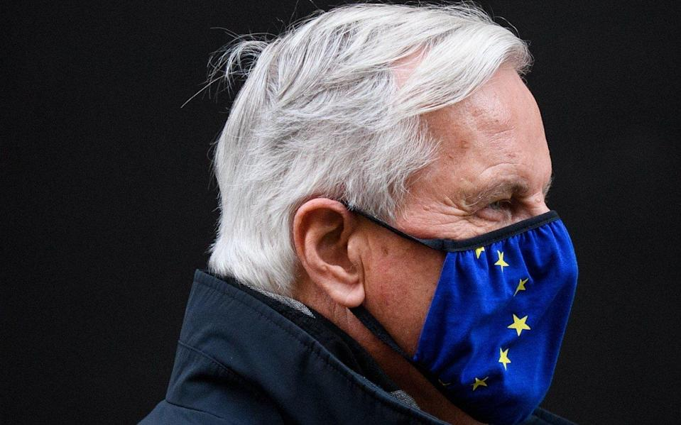 Michel Barnier is continuing negotiations with David Frost in Brussels - Leon Neal/Getty Images Europe