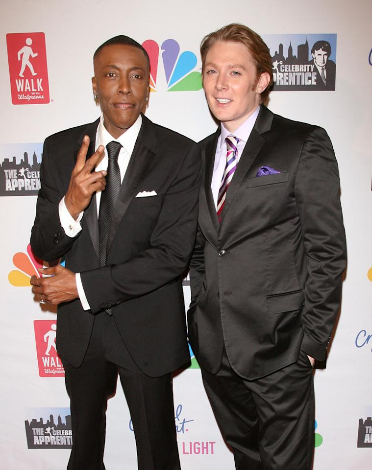 """Arsenio Hall and Clay Aiken attend the """"Celebrity Apprentice"""" Live Finale at American Museum of Natural History on May 20, 2012 in New York City."""