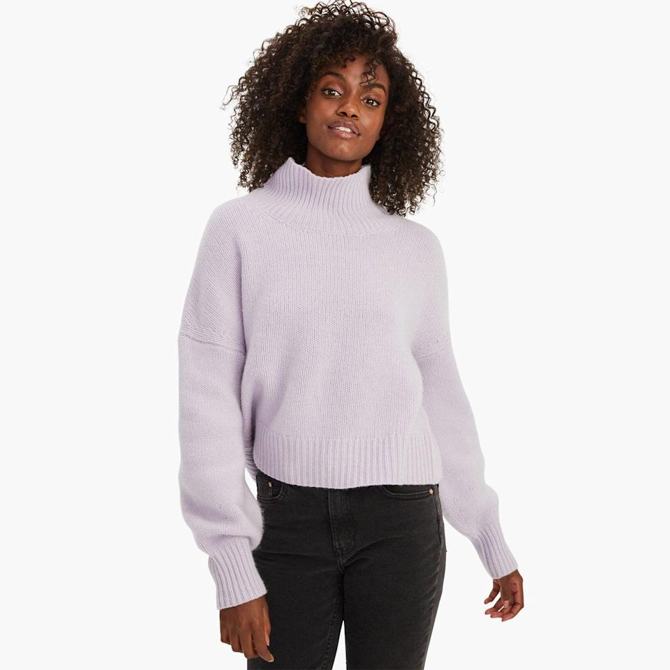 <p>They'll never want to take off this luxurious <span>Naadam Cashmere Oversized Turtleneck</span> ($350). There are a few different colors to choose from, but the light lavender is so gorgeous.</p>