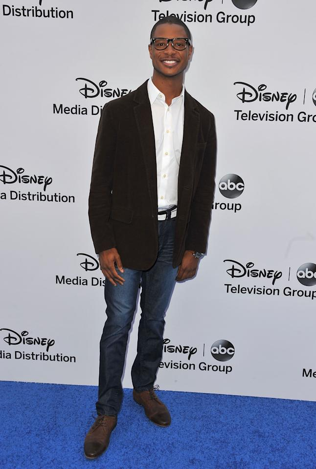 BURBANK, CA - MAY 19:  Actor Arjay Smith arrives at the Disney Media Networks International Upfronts at Walt Disney Studios on May 19, 2013 in Burbank, California.  (Photo by Angela Weiss/Getty Images)