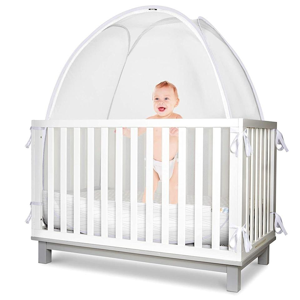 """Greatfor babies who are at the age where they think crawling out of the crib sounds a lot more fun than sleeping in it.<br /><br /><strong>Promising review:</strong>""""I have never written an Amazon review before, although I literally buy everything off Amazon and read reviews like crazy. However, this has<strong>LITERALLY SAVED MY LIFE and all parents must know.</strong>Two days after we brought our second child home from the hospital, our 20-month-old started flipping out of his crib so we transitioned to a toddler bed. I'll save you the details (because if you're reading this you clearly have young children and are sleep deprived) but we did not sleep for six straight days. I was desperate and bought this. Three days in and our son started sleeping through the night again. It's been two glorious weeks of using this and I secretly hope he never grows out of it so we can use it forever."""" — <a href=""""https://www.amazon.com/gp/customer-reviews/R3C9ZQ5F99W1AY?&linkCode=ll2&tag=huffpost-bfsyndication-20&linkId=bfeb9893d9f809a0d21b2c7c74fd5485&language=en_US&ref_=as_li_ss_tl"""" target=""""_blank"""" rel=""""noopener noreferrer"""">Katie McDermott</a><br /><br /><strong><a href=""""https://www.amazon.com/dp/B07WHDGN2Y?&linkCode=ll1&tag=huffpost-bfsyndication-20&linkId=0a2829d0fc0ca1e96f15b14b851f4414&language=en_US&ref_=as_li_ss_tl"""" target=""""_blank"""" rel=""""noopener noreferrer"""">Get it from Amazon for $64.98+ (available in two colors).</a></strong>"""