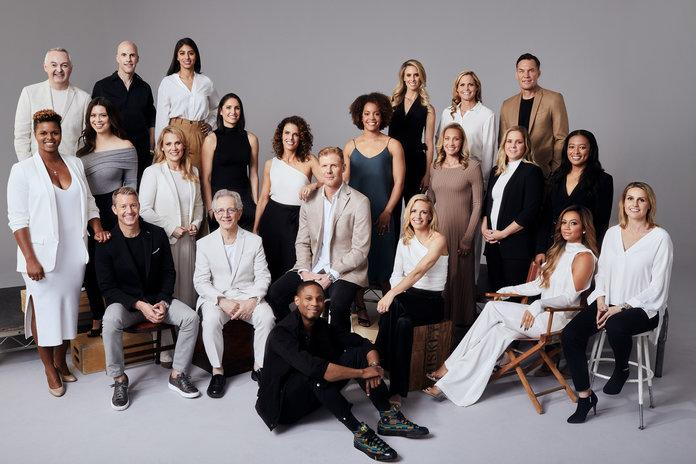 <p>Aly Wagner with Fox Sports TV and digital coverage team for the 2019 FIFA&nbsp;Women's World Cup. Photographed by&nbsp;Adam Franzino.</p>