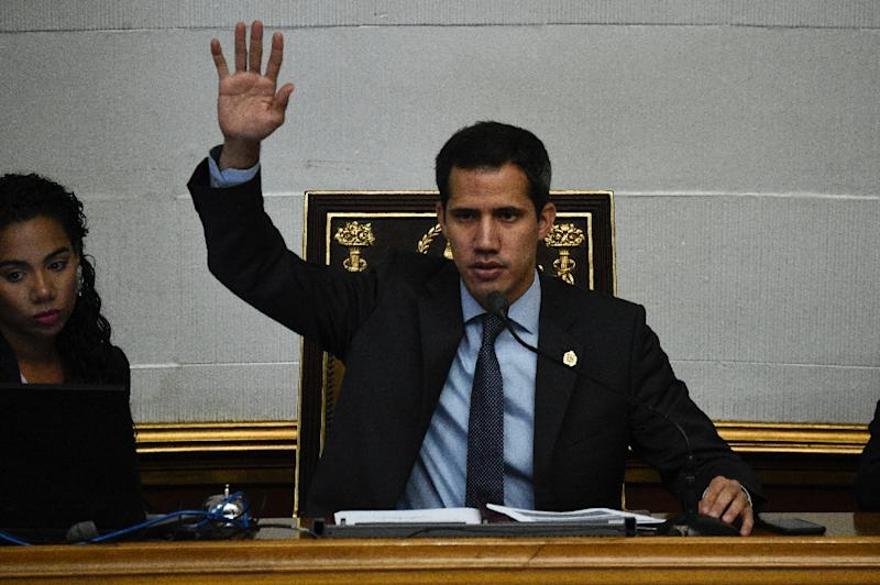Venezuelan opposition leader Juan Guaido says he fears being abducted by government agents after a Supreme Court request to lift his parliamentary immunity (AFP Photo/Federico Parra)