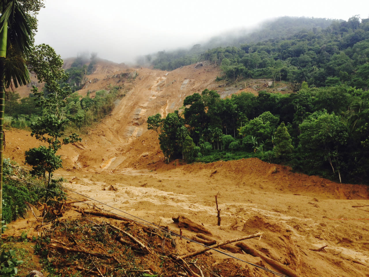 The scene after a massive landslide in Kegalle District, about 45 miles north of Colombo, Sri Lanka, May 18, 2016.(AP Photo/Eranga Jayawardena)