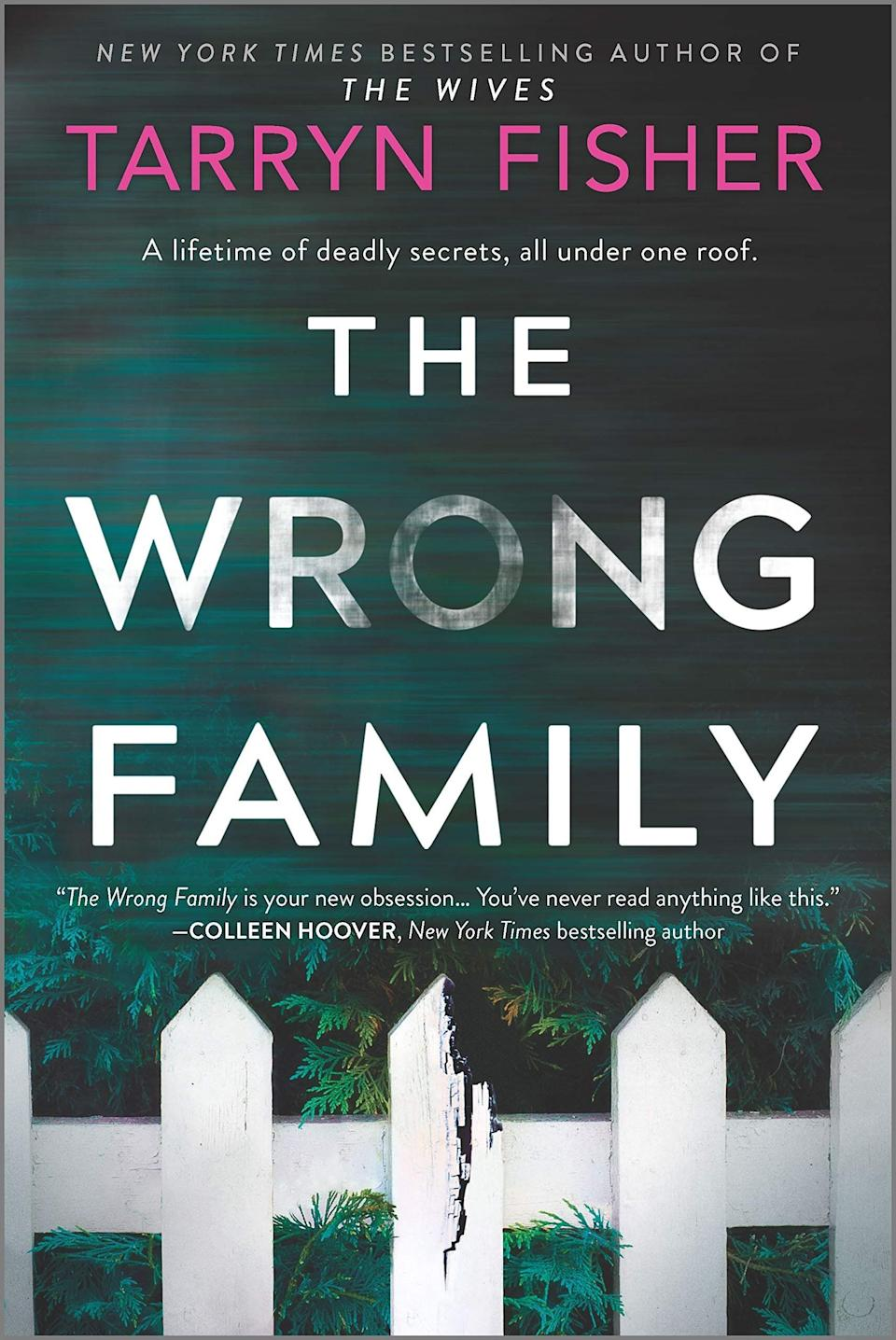 """The Crouch family seems to have it all figured out. They have a perfect marriage, a perfect son, a perfect house. But when Juno moves in with the family, she discovers the Crouch's flawless facade is hiding some dark secrets. However, Juno herself isn't that perfect, either. Readers of """"The Wrong Family"""" will enjoy Tarryn Fisher's usual twists and dark turns in her latest domestic thriller. Read more about it on <a href=""""https://www.goodreads.com/book/show/51183094-the-wrong-family"""">Goodreads</a>, and grab a copy on <a href=""""https://amzn.to/2JzxTYO"""">Amazon</a> or <a href=""""https://fave.co/2JzxZ2C"""">Bookshop</a>.<br /><br /><i>Expected release date:</i> <i>December 29</i>"""