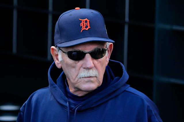 SAN FRANCISCO, CA - OCTOBER 24: Manager Jim Leyland #10 of the Detroit Tigers looks on in the dugout during batting practice against the San Francisco Giants prior to Game One of the Major League Baseball World Series at AT&T Park on October 24, 2012 in San Francisco, California. (Photo by Jason O. Watson/Getty Images)