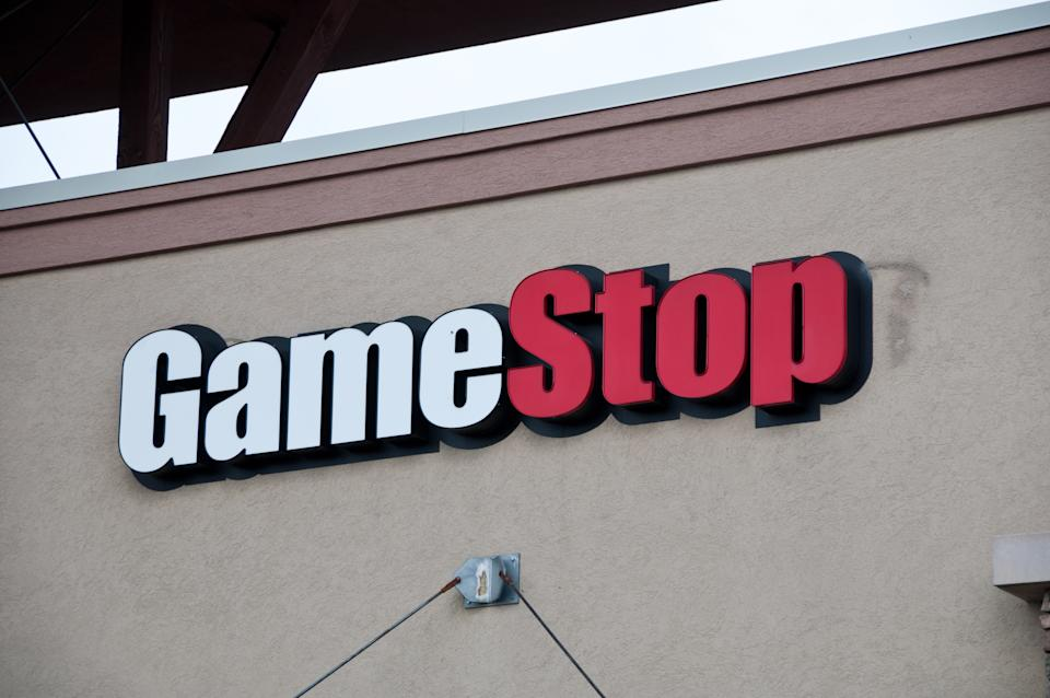 Denver USA - May 02, 2011: Gamestop   logo on one of their stores.  Gamestop sells new and used video and computer games