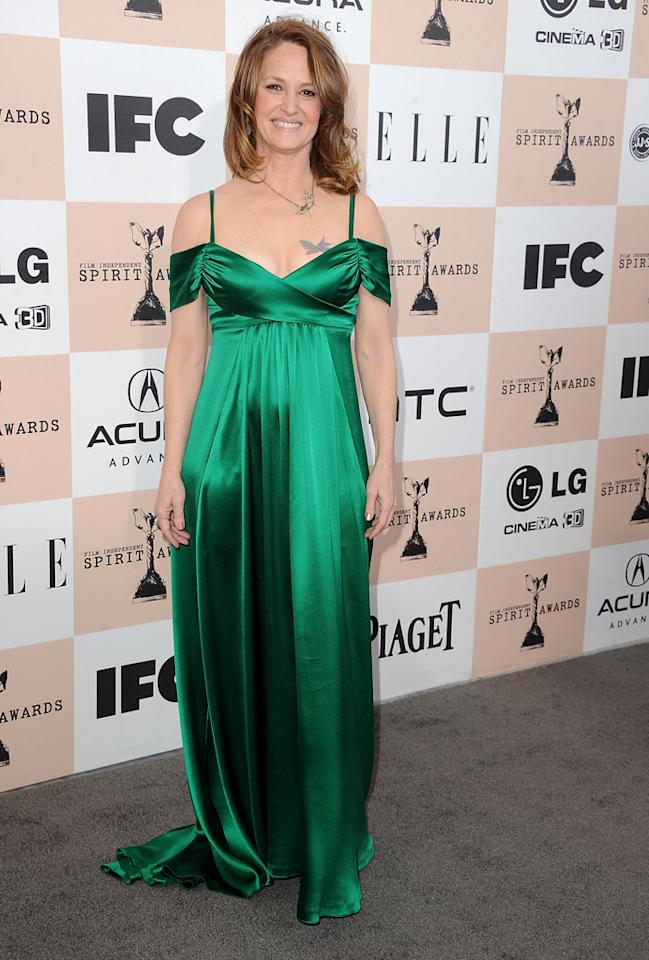 Melissa Leo, 2011<br><br>Her gown's emerald hue was gorgeous. Her exposed chest tattoo was the polar opposite.