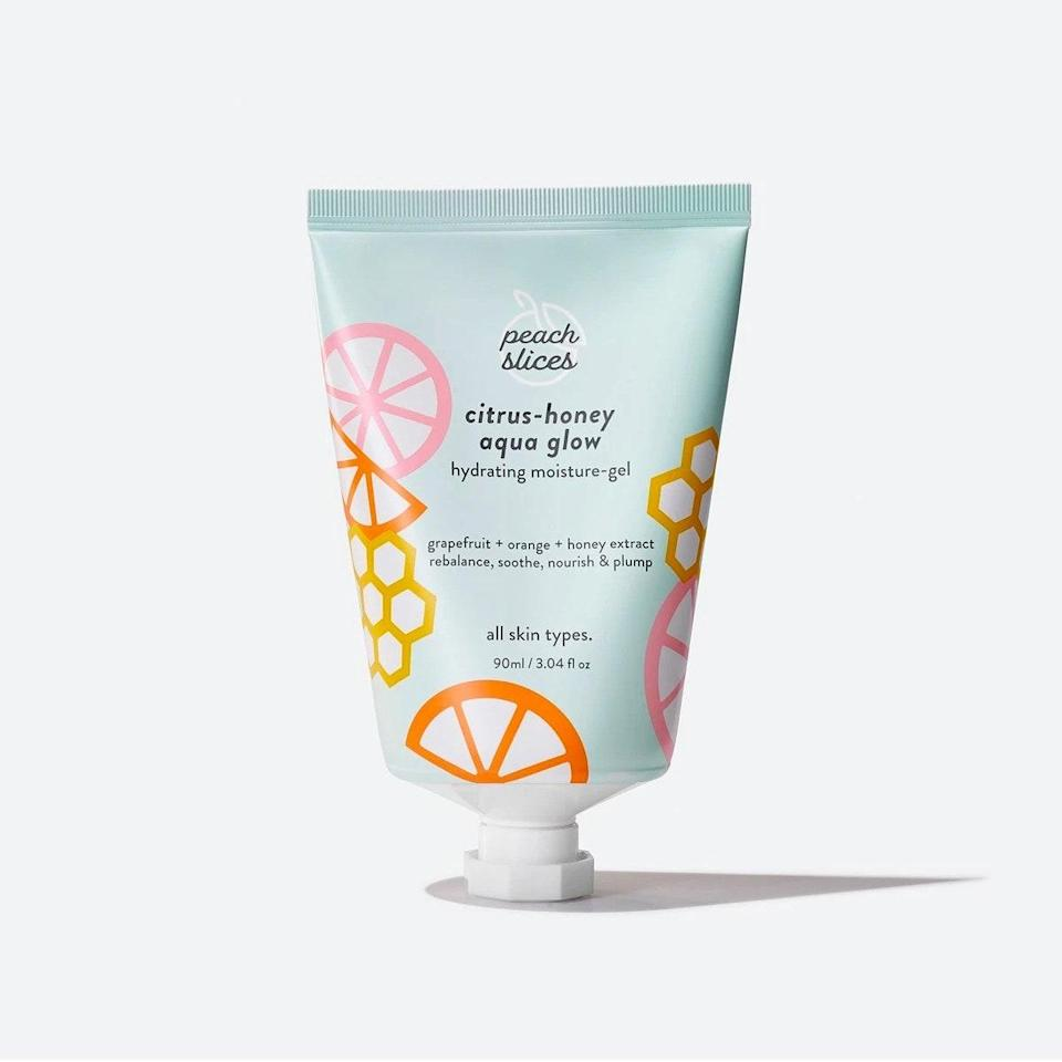 """When lotion meets serum, you get this delightful gel-cream. It's lightweight enough to apply during the day without feeling greasy and easily absorbs into your skin, leaving nothing but a dewy hydrated glow. Bonus: The fruity scent is incredible. <em>—Halie LeSavage, contributor</em> $12, Peach and Lilly. <a href=""""https://www.peachandlily.com/products/peach-and-lily-citrus-honey-aqua-glow"""" rel=""""nofollow noopener"""" target=""""_blank"""" data-ylk=""""slk:Get it now!"""" class=""""link rapid-noclick-resp"""">Get it now!</a>"""