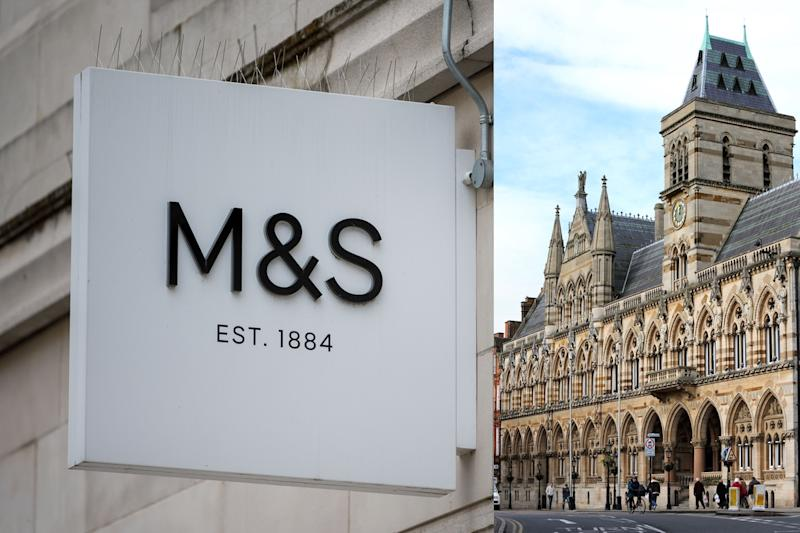 Some people weren't happy about the location of an M&S promotional picture in Northampton [Photos: Getty]