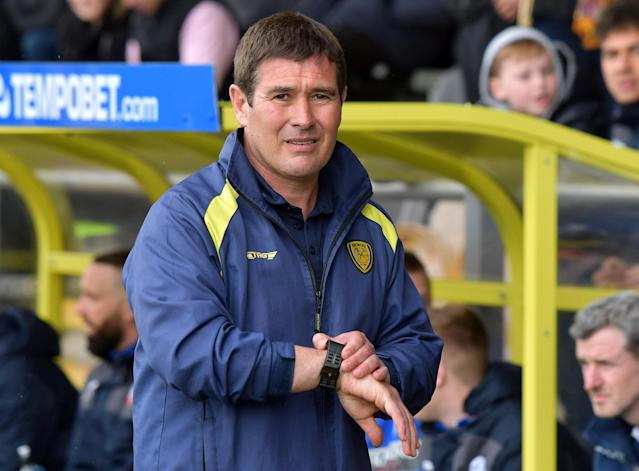 "Soccer Football - Championship - Burton Albion vs Bolton Wanderers - Pirelli Stadium, Burton, Britain - April 28, 2018 Burton Albion manager Nigel Clough Action Images/Paul Burrows EDITORIAL USE ONLY. No use with unauthorized audio, video, data, fixture lists, club/league logos or ""live"" services. Online in-match use limited to 75 images, no video emulation. No use in betting, games or single club/league/player publications. Please contact your account representative for further details."
