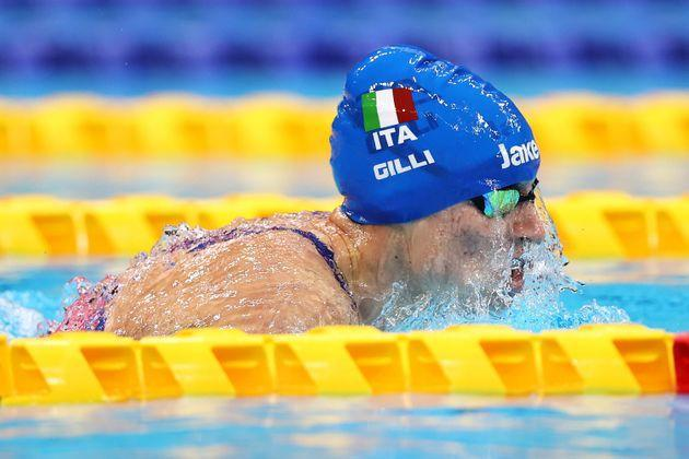 TOKYO, JAPAN - AUGUST 30: Carlotta Gilli of Team Italy competes in Women's 200m Individual Medley - SM13 Final on day 6 of the Tokyo 2020 Paralympic Games at Tokyo Aquatics Centre on August 30, 2021 in Tokyo, Japan. (Photo by Lintao Zhang/Getty Images) (Photo: Lintao Zhang via Getty Images)