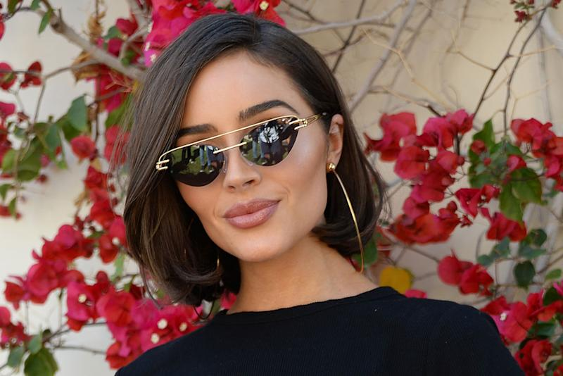 2e9196b010fc8 Olivia Culpo Bares Abs in Crop Top With Super Chunky Sandals at Coachella  Party