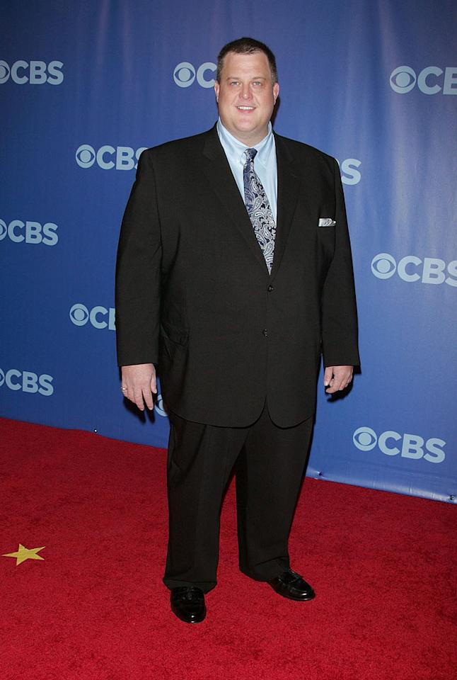 "<a href=""/billy-gardell/contributor/55443"">Billy Gardell</a> (""<a href=""/mike-and-molly/show/46533"">Mike & Molly</a>"") attends the 2010 CBS Upfront at The Tent at Lincoln Center on May 19, 2010 in New York City."