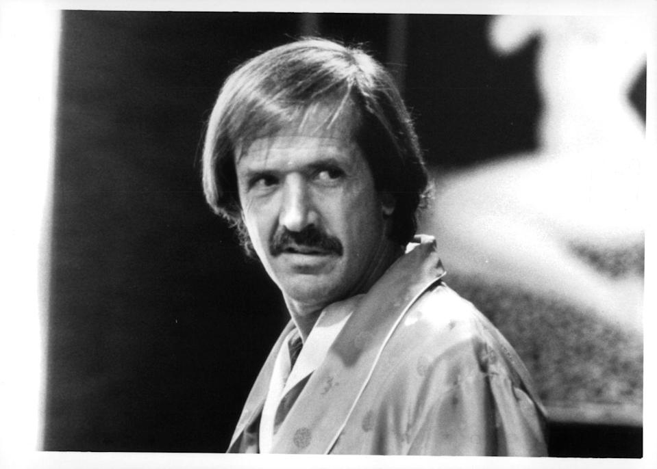 <p>One half of the singing duo Sonny & Cher kept a striking, well-groomed mustache for much of his adult life.</p>