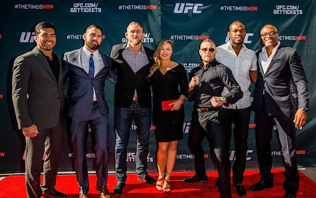 The UFC's top stars play a key role in forming a mixed martial arts union. (Getty Images)