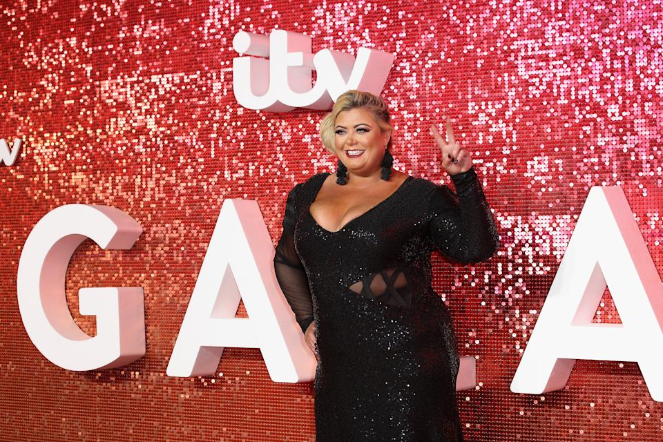 Gemma Collins arrives at the ITV Gala held at the London Palladium on November 9, 2017 in London, England.  (Photo by Mike Marsland/Mike Marsland/WireImage)