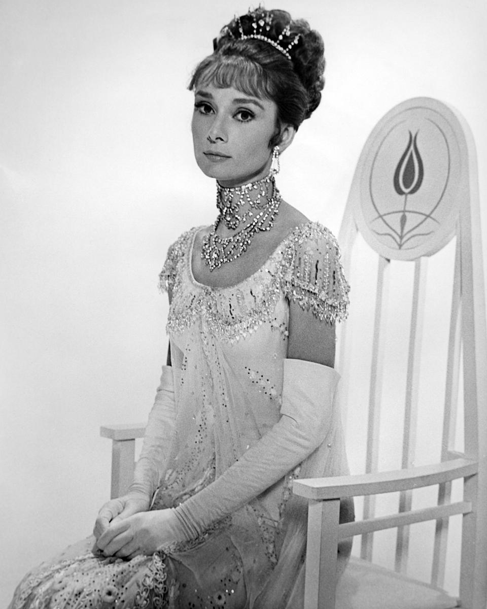 Portrait of English actress Audrey Hepburn 1929–1993) (in costume as Eliza Doolittle) in 'My Fair Lady' (directed by George Cukor), Burbank, California, 1964. (Photo by Silver Screen Collection/Getty Images)