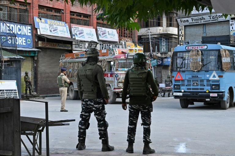 The spectre of further unrest lingers, with the main Kashmiri city of Srinagar choked by razor wire, security checkpoints and armed soldiers