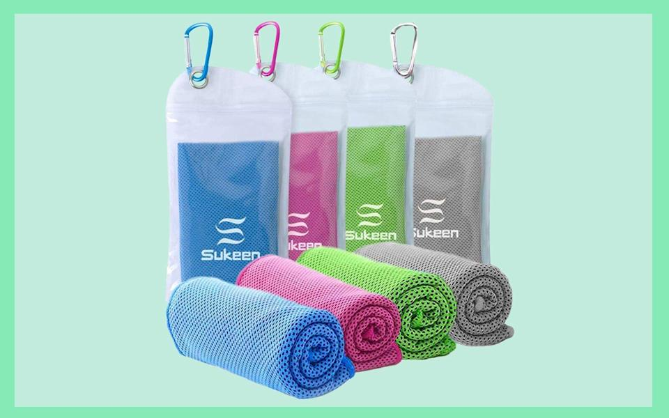 """Cooling Towel (40""""x12""""), Ice Towel, Soft Breathable Cool Towel"""