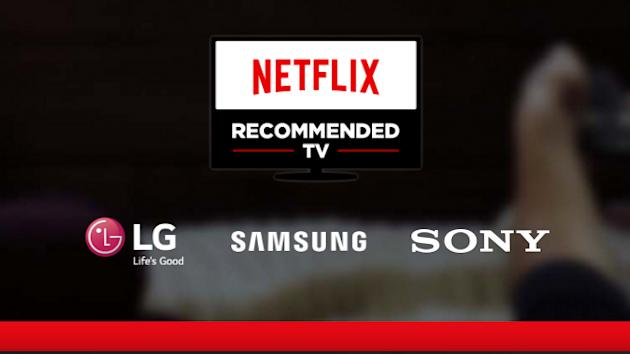 Netflix's First Recommended TVs in 2017 Come From LG, Samsung, and Sony
