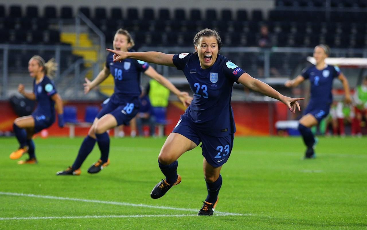 """Millie Bright has quickly forgotten her disappointment at having her first international goal ruled out for offside as she insisted England were not going to let their early success go to their heads at the European Championship. The Lionesses have beaten Scotland and Spain and are yet to concede a goal, largely down to the centre-back pairing of Bright and captain Steph Houghton. The duo were superb in Breda, as England secured the win that all but guarantees their place in the quarter-final, although Bright insisted they still had to beat Portugal in their final game on Thursday to make sure they top the group. That should mean England avoid the only two teams ranked above them in Europe, France and Germany, until the final and Bright is adamant there is no sense of real achievement yet as they want to be crowned European champions not quarter-finalists. """"We'll recover and refocus,"""" said Bright, who plays for Chelsea. """"There's still a job to be done against Portugal. We see every game as a big game and, as you know in tournament football, anything is possible. Each game we want to keep raising the bar and lifting our standards and putting goals past teams. Fran Kirby celebrates her goal against Spain Credit: Getty Images """"So, we don't want to sit back or get too relaxed, we need to stay switched on and have another good performance and hopefully another three points to end the group on a high."""" This is Bright's first experience of tournament football, but she has shown no nerves and, at just 23, has taken everything in her stride. """"I'm loving it, it's a great experience,"""" she said. """"I'm just taking it all in, grabbing the opportunity with both hands and making sure I give it absolutely 100 per cent. I don't want any regrets at the end of this tournament and up to now it's been an amazing journey."""" Meet the Lionesses The presence of 12 members of her family have helped her on a match day, although she will be haunted for a while by the sight of an offside flag, aft"""