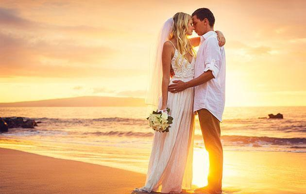 Josh recommends a wedding at sunset. Photo: Getty