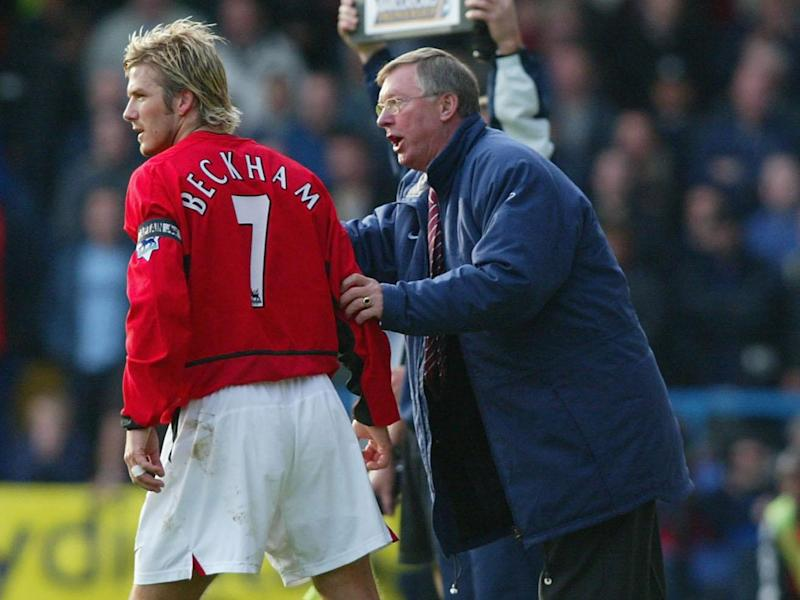 Beckham left United after Ferguson claimed he didn't want players who thought they were bigger than the club (Getty)