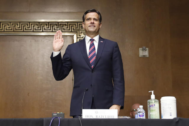 Rep. John Ratcliffe, R-Texas, at his nomination hearing for director of national intelligence. (Andrew Harnik/Getty images)