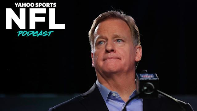 Roger Goodell's apology last week was a momentous and stunning change of tone for a league and commissioner not known for admitting fault. (Photo by Cliff Hawkins/Getty Images)