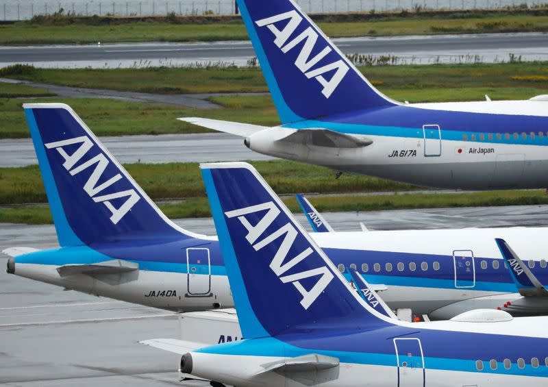 All Nippon Airways (ANA) aircrafts are seen amid the coronavirus disease (COVID-19) outbreak Haneda Airport in Tokyo