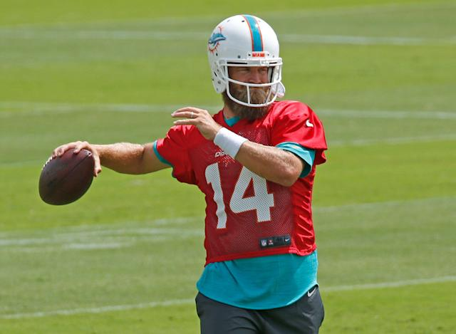 Ryan Fitzpatrick could force his way into playing time on the Dolphins. (Photo by Joel Auerbach/Getty Images)