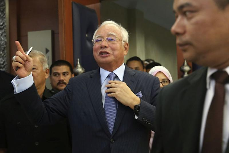 Najib said that PH lacked 'moral integrity' by not admitting in the first place that implementing all of its policies would be an impossible task. — Picture by Yusof Mat Isa