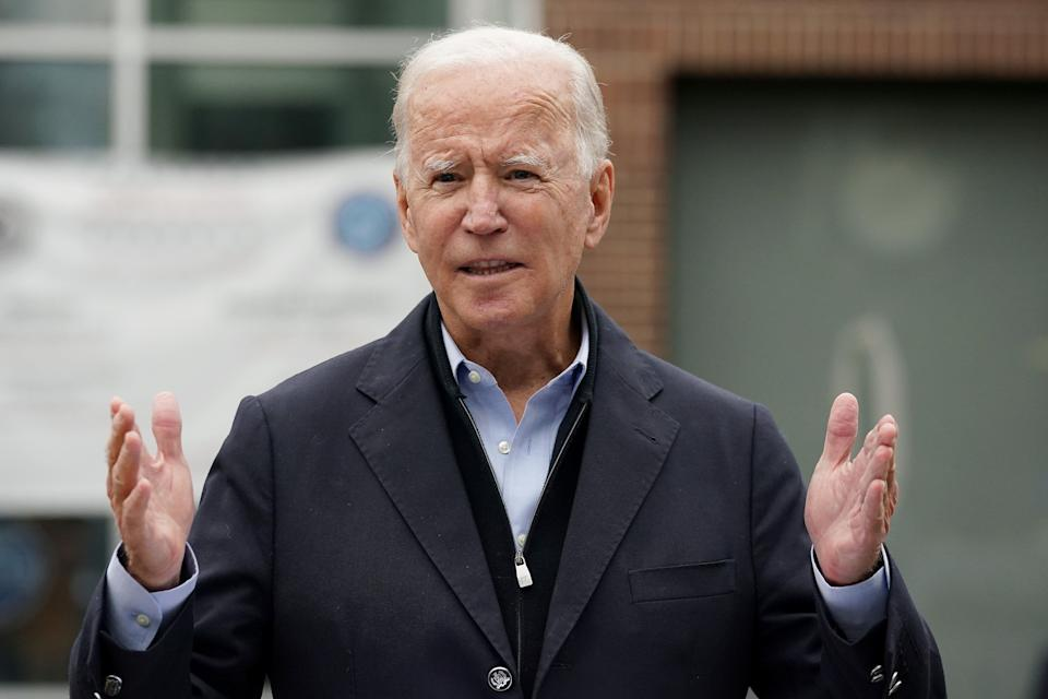 Democratic presidential nominee Joe Biden speaks at a voter activation center in Chester, Pennsylvania, on Monday. Pennsylvania's fast-growing Latino population could be pivotal. (Photo: Jim Watson/Getty Images)