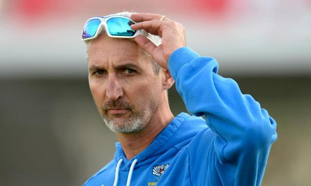 """<span class=""""element-image__caption"""">Jason Gillespie led Yorkshire to two County Championship titles and has described working with Kent as an opportunity he 'couldn't resist'.</span> <span class=""""element-image__credit"""">Photograph: Philip Brown/Getty Images</span>"""